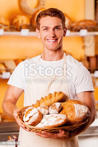 istock Proud of his baked goods. 517060309