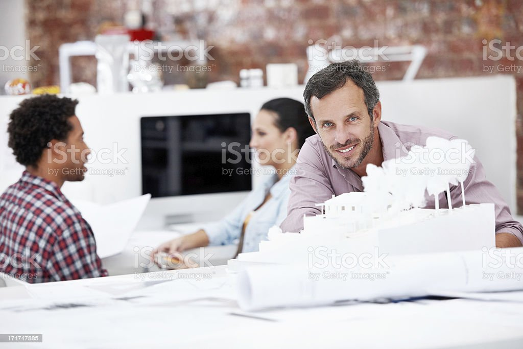 Proud of his creation royalty-free stock photo