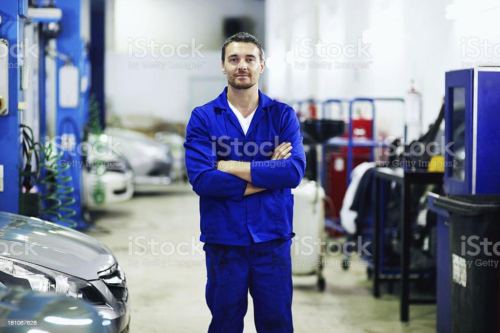 Proud of his profession stock photo
