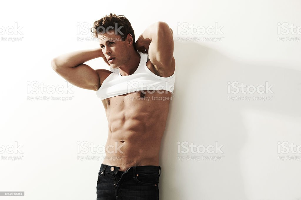 Proud of my body stock photo