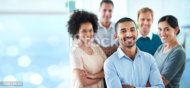 istock Proud of my team's achievements 1036148262