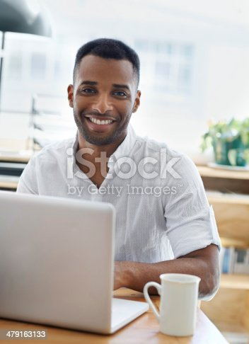 istock Proud of the work he's done so far! 479163133