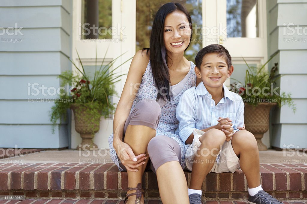 Proud of their home stock photo