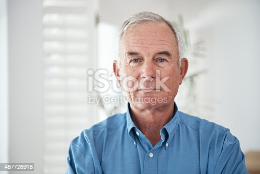 istock Proud of what he's achieved in his lifetime 487726918