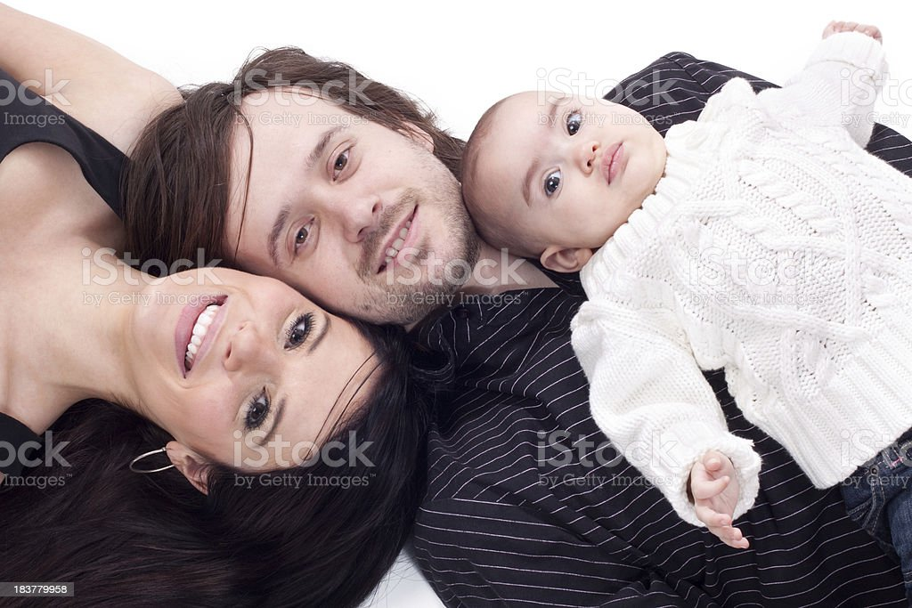 Proud Parents Holding Baby royalty-free stock photo