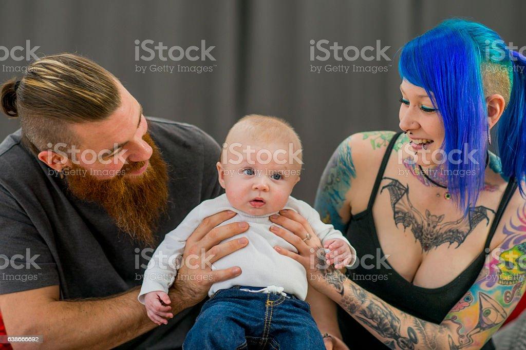 Proud Parents stock photo