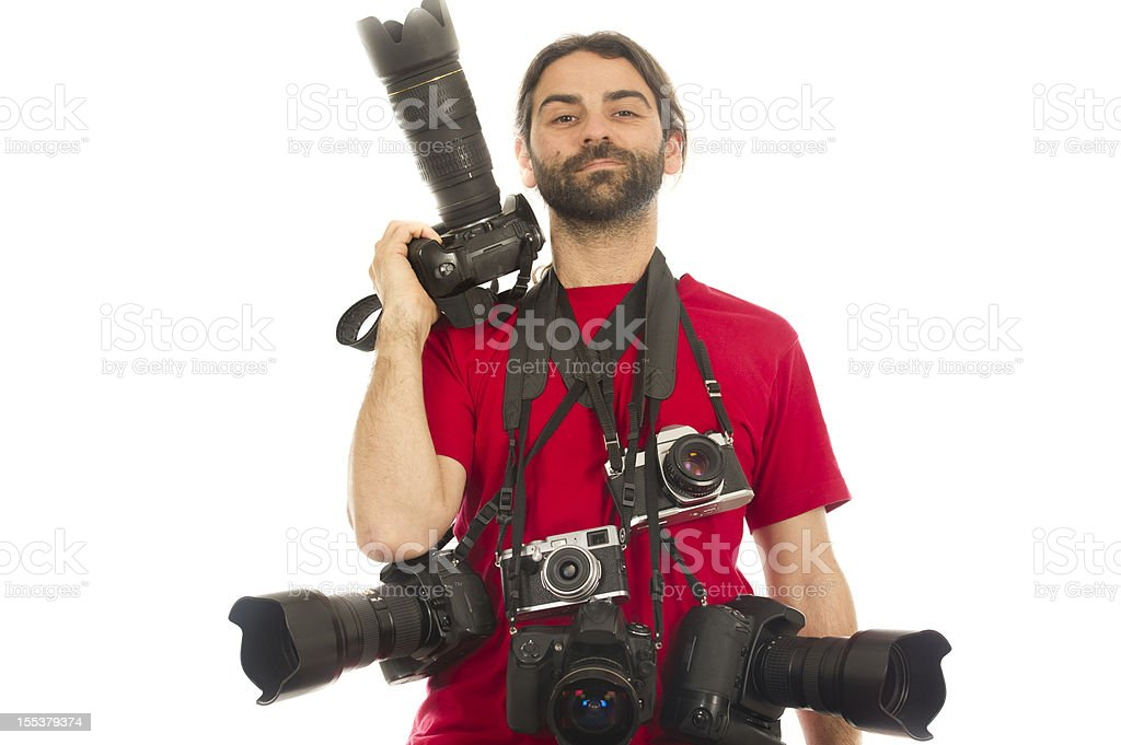 Proud Photographer royalty-free stock photo