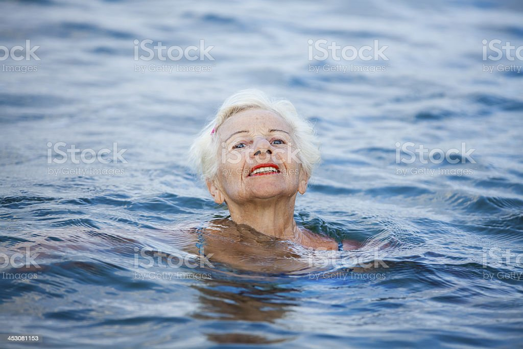 Proud Senior Swimmer royalty-free stock photo