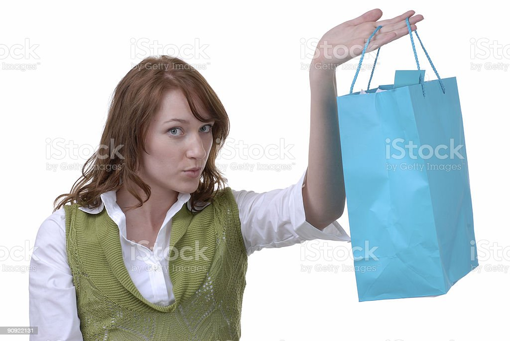 Proud Shopper royalty-free stock photo
