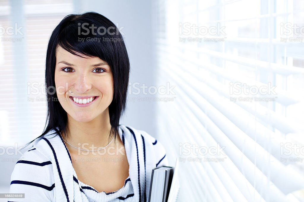 Proud smiling woman royalty-free stock photo