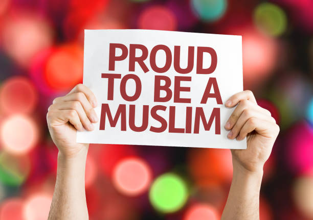 Proud to be a Muslim stock photo