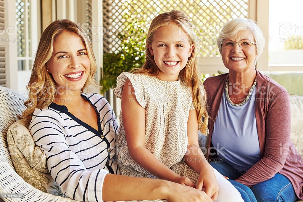 Proud to be a part of this family stock photo