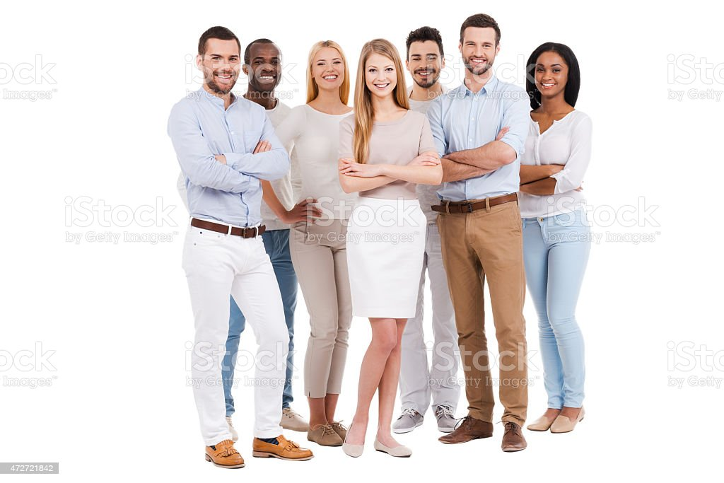 Proud to be a team. stock photo
