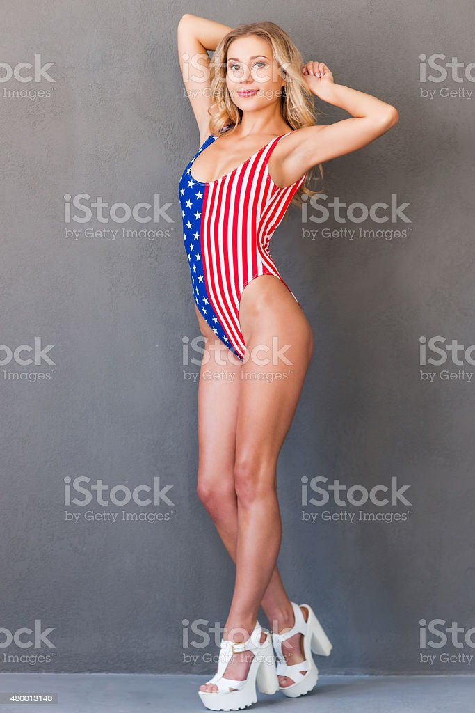 Proud to be American. stock photo