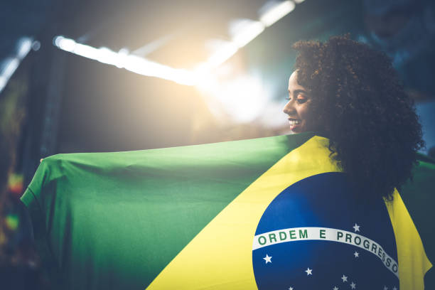 Proud to be Brazilian stock photo