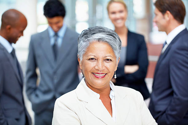 Proud to be in business stock photo