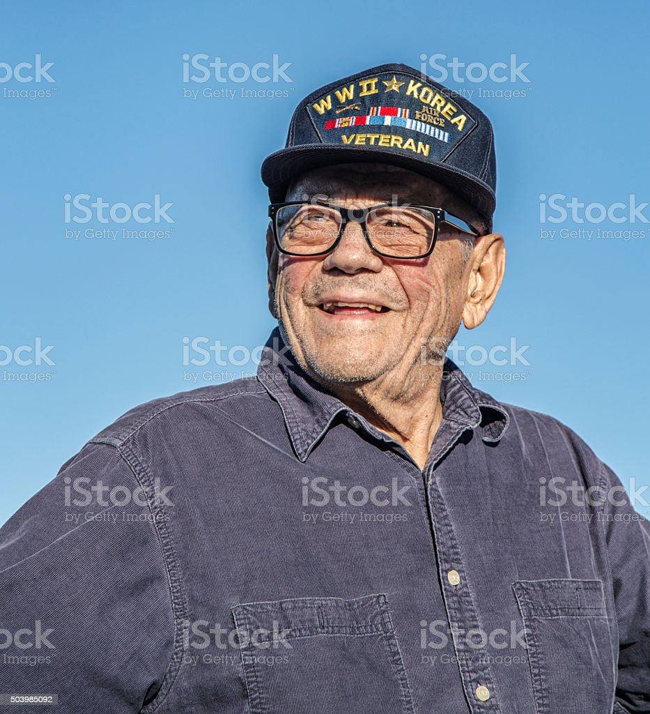 Stolze USA militärische Veteranen des Zweiten Weltkriegs Korea – Foto