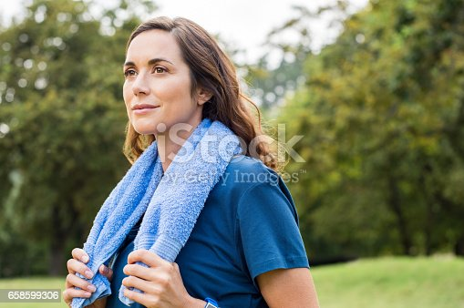 825083304 istock photo Proud woman after exercise 658599306
