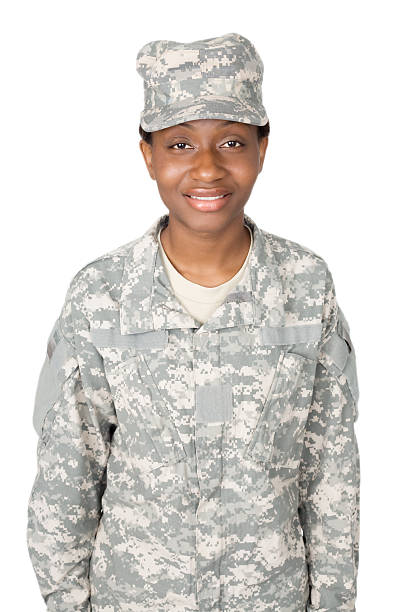 Proud Woman Fighter stock photo