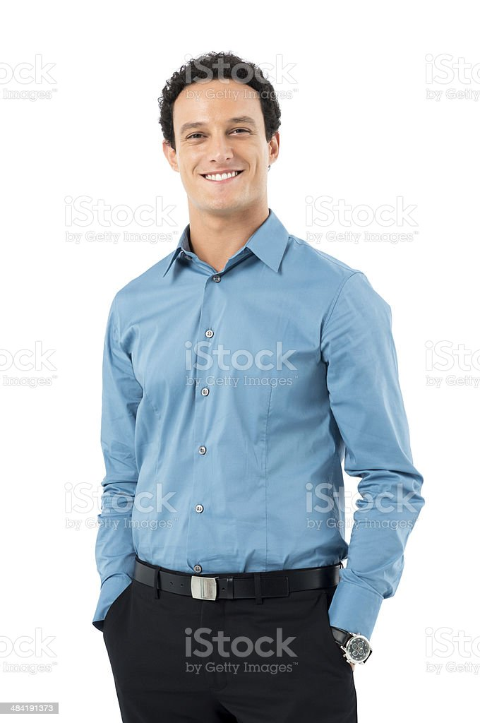 Stolzer junger Geschäftsmann – Foto