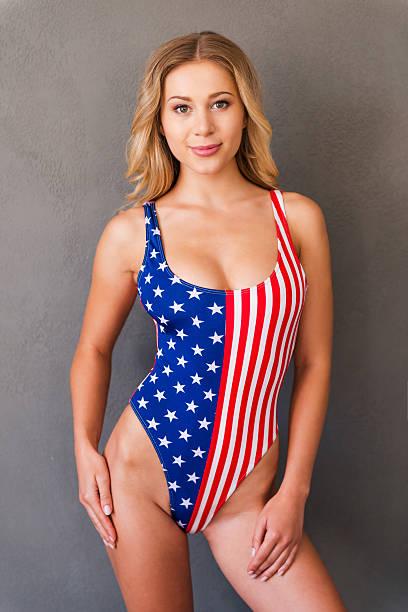 Proudly American. stock photo