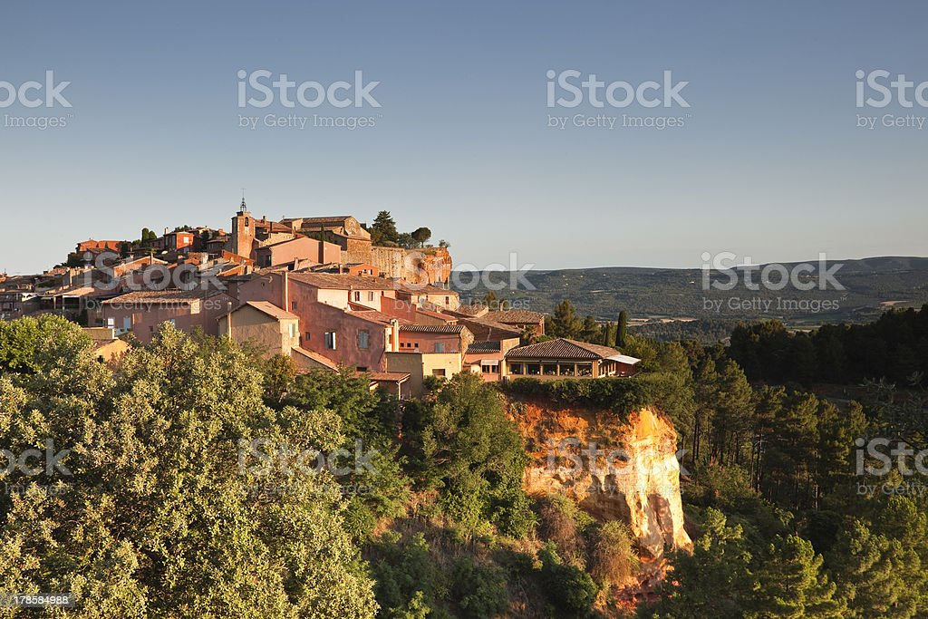 Provencal village of Roussillon stock photo