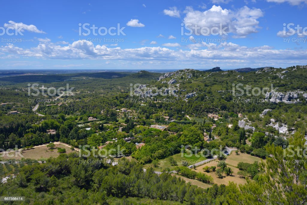 Provence landscape, France stock photo