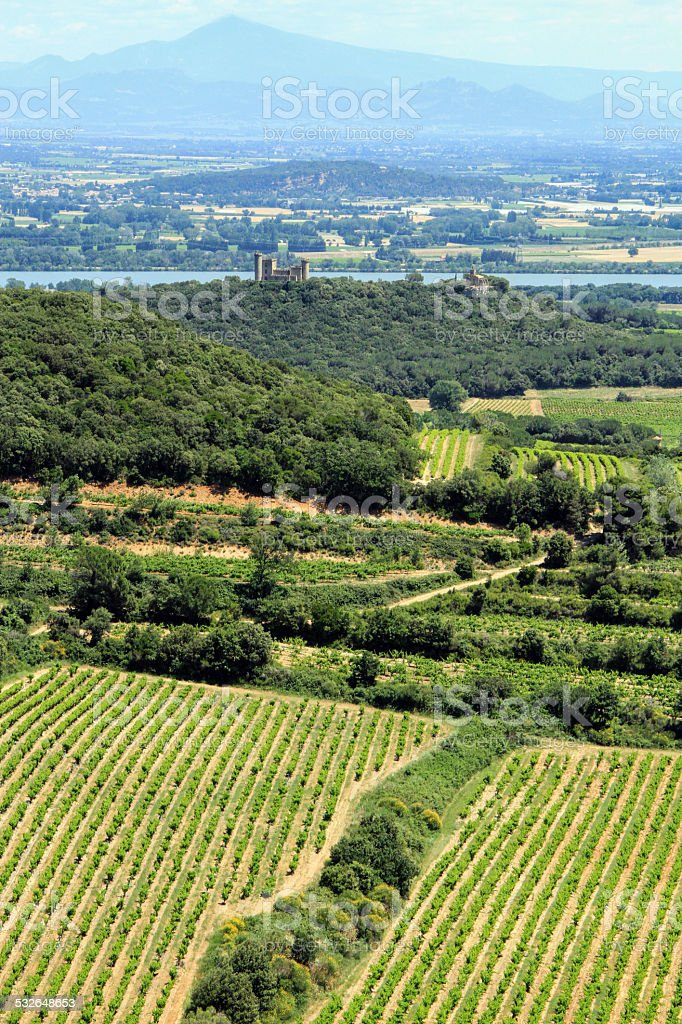 Provence landscape, South of France stock photo
