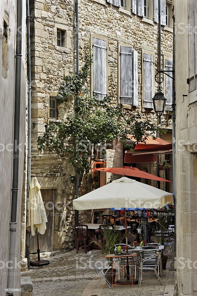 Provence: Picturesque small alley in Grignan stock photo