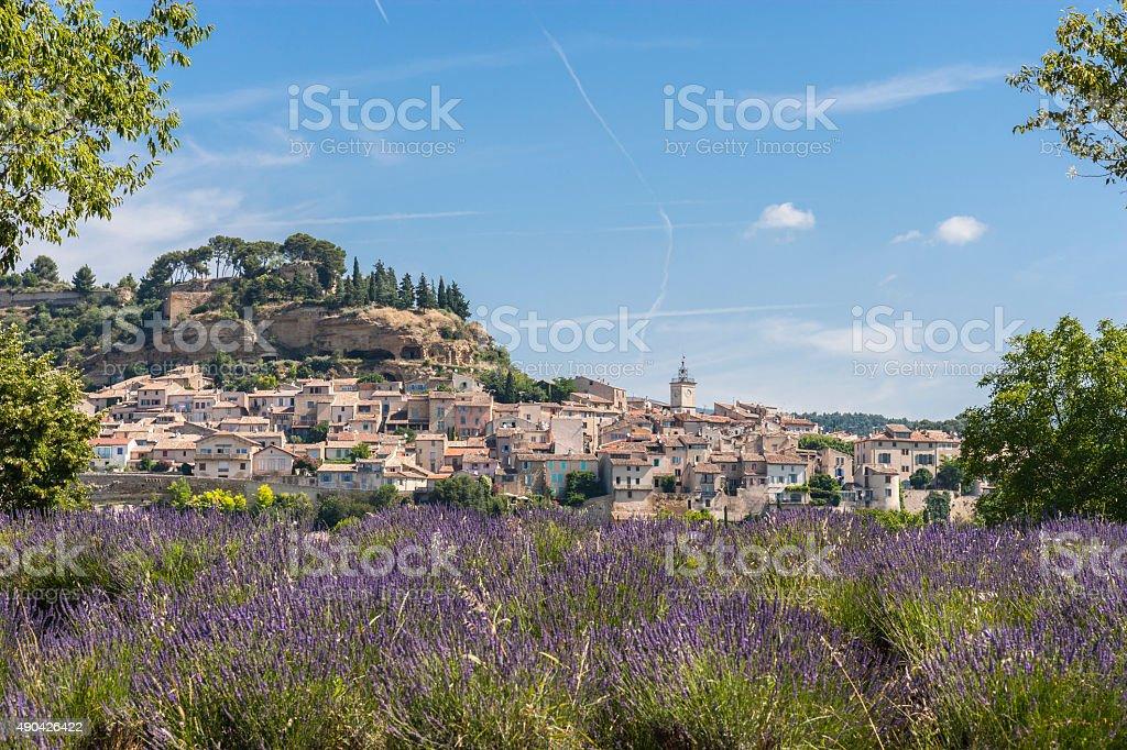 Provenza (Francia). Provençal villaggio tra Manosque e a Cavaillon - foto stock