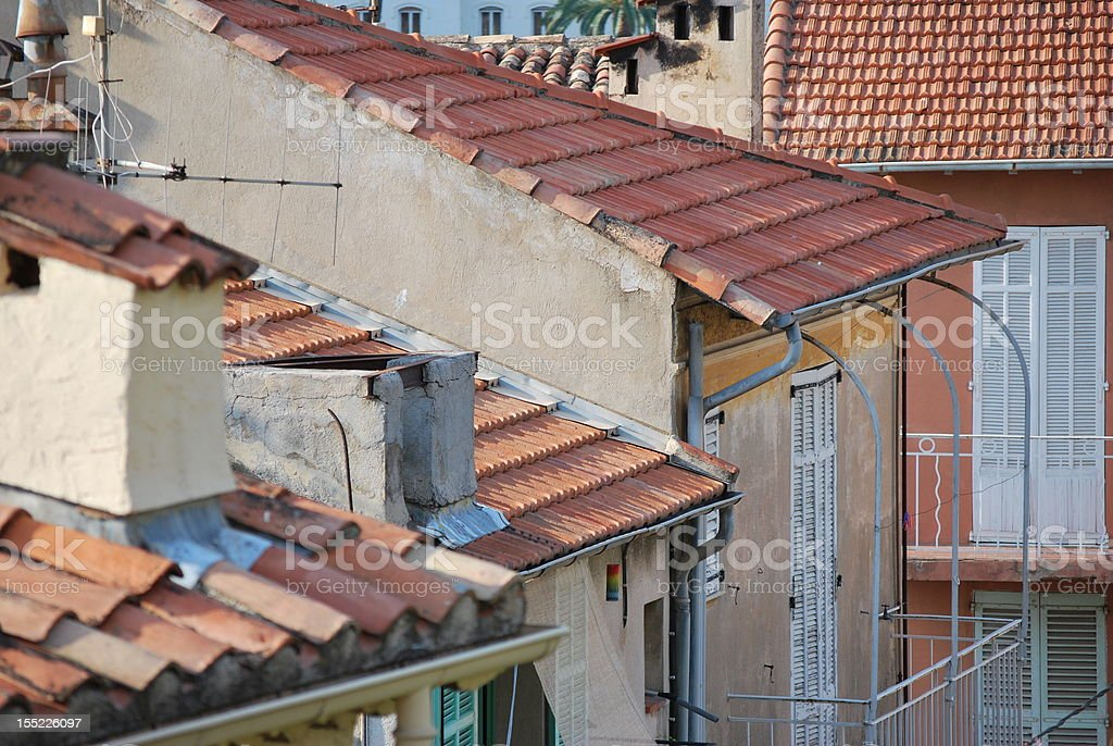 Provence roofs stock photo