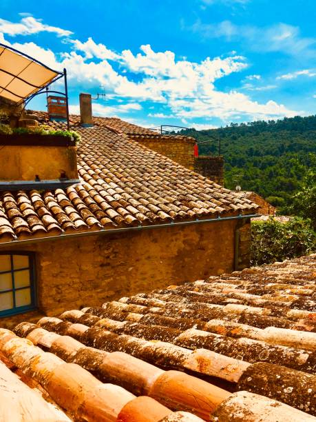 Provence rooftops stock photo