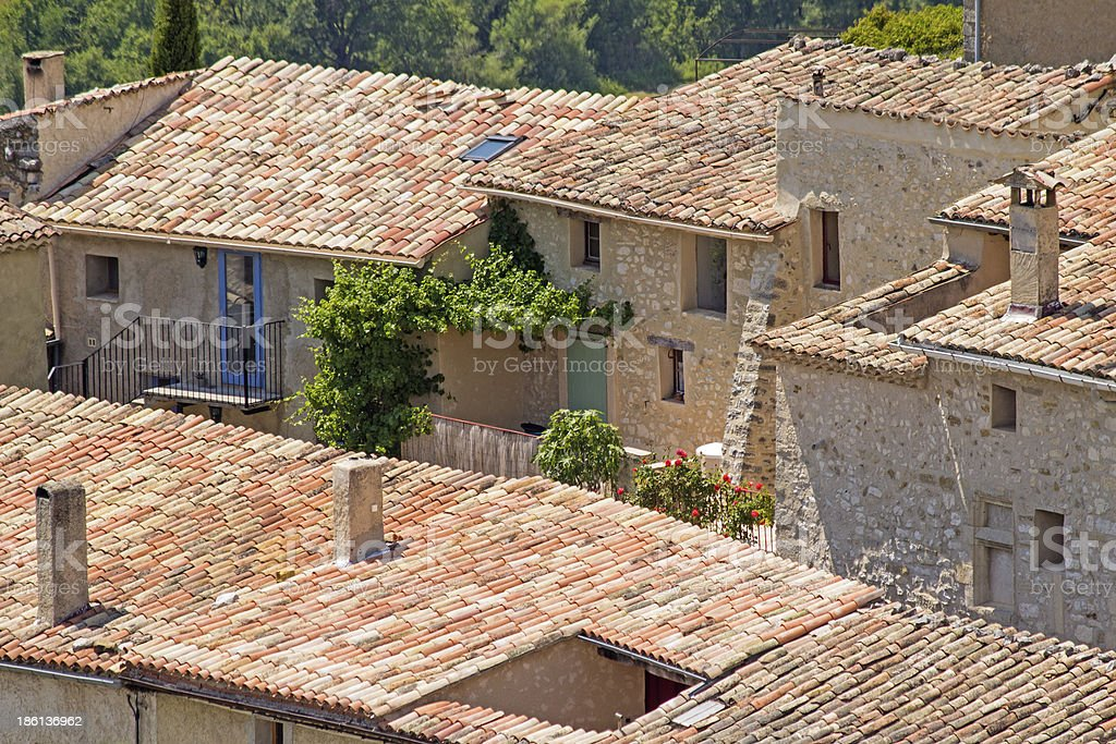 Provence Village, in summertime. France. stock photo