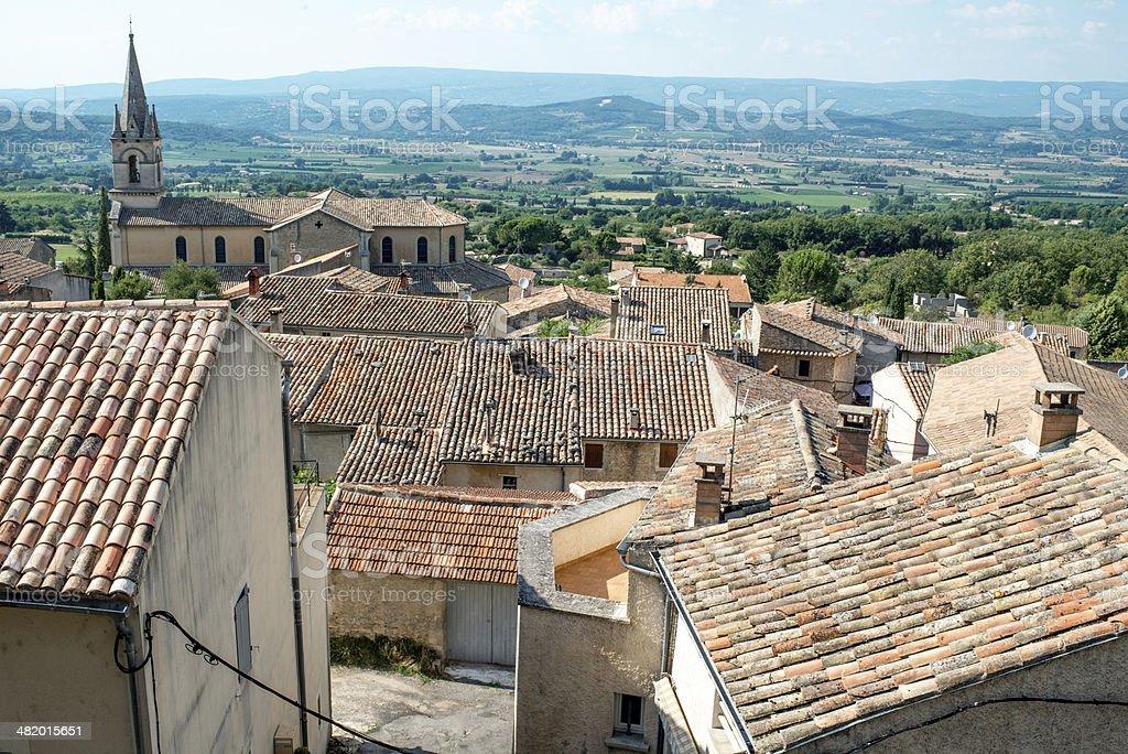 Provence village roof stock photo