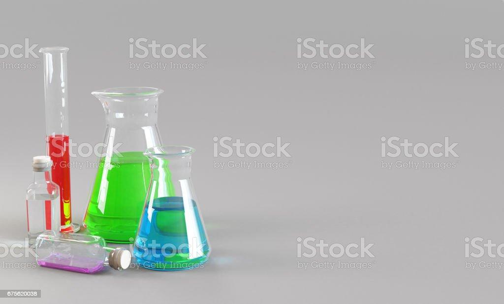 Provette da chimico, laboratorio e ricerca royalty-free stock photo