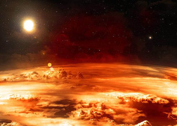 atmosphère-éléments de cette image meublées par la nasa. - venus photos et images de collection