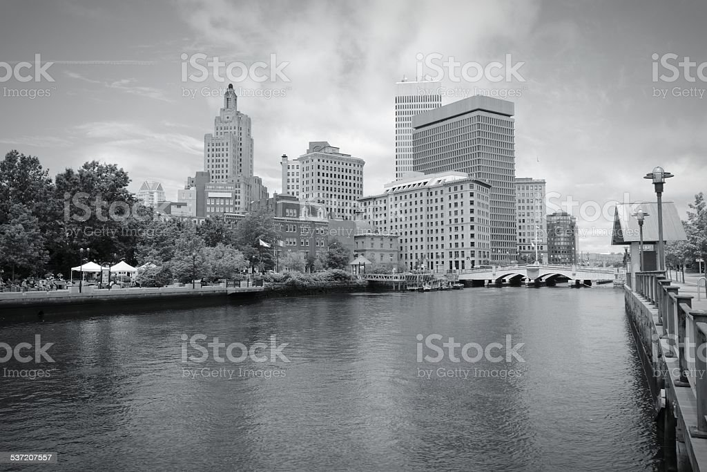 Providence black white stock photo