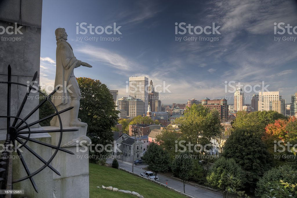 Providence downtown stock photo