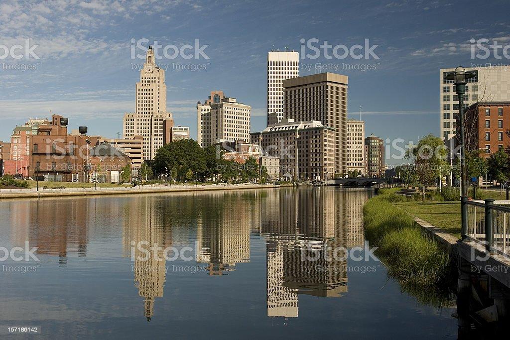 Providence morning (RI) stock photo