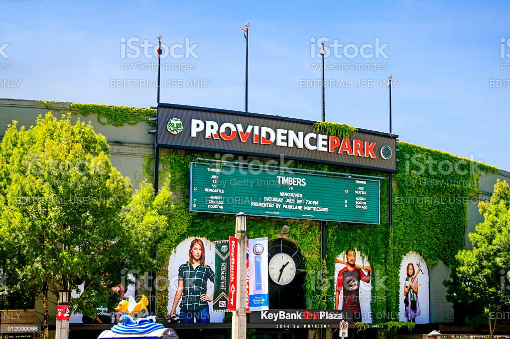 Providence Park, home of the Portland OR Timbers and Thorns stock photo