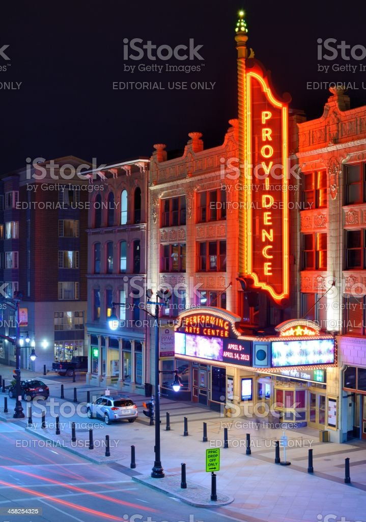Providence Performing Arts Center stock photo