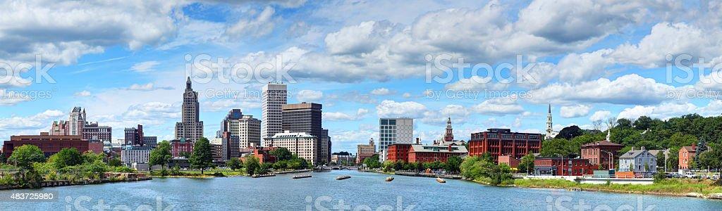 Providence, Rhode Island Skyline Panorama stock photo