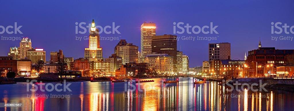 Providence, Rhode Island Skyline stock photo