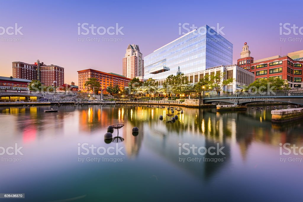 Providence Rhode Island Waterplace Park stock photo