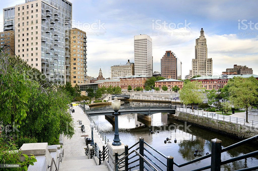 Providence, RI Downtown stock photo