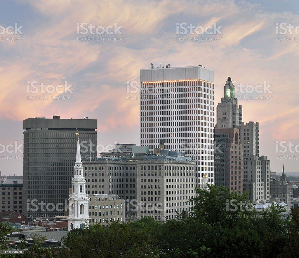 Providence, RI Skyline royalty-free stock photo