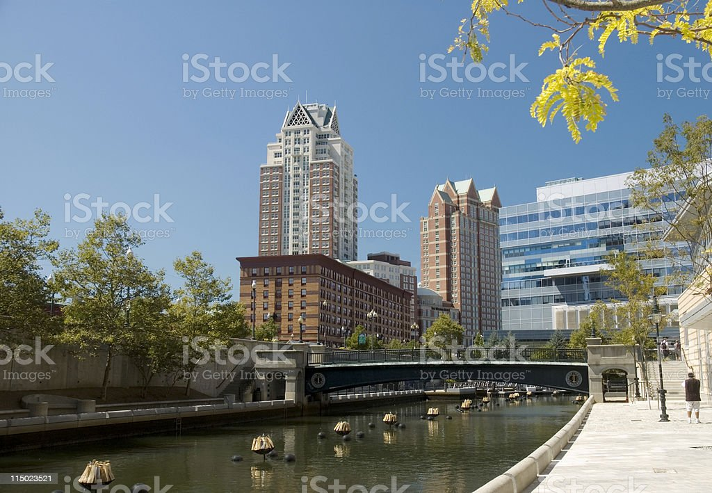 Providence River stock photo