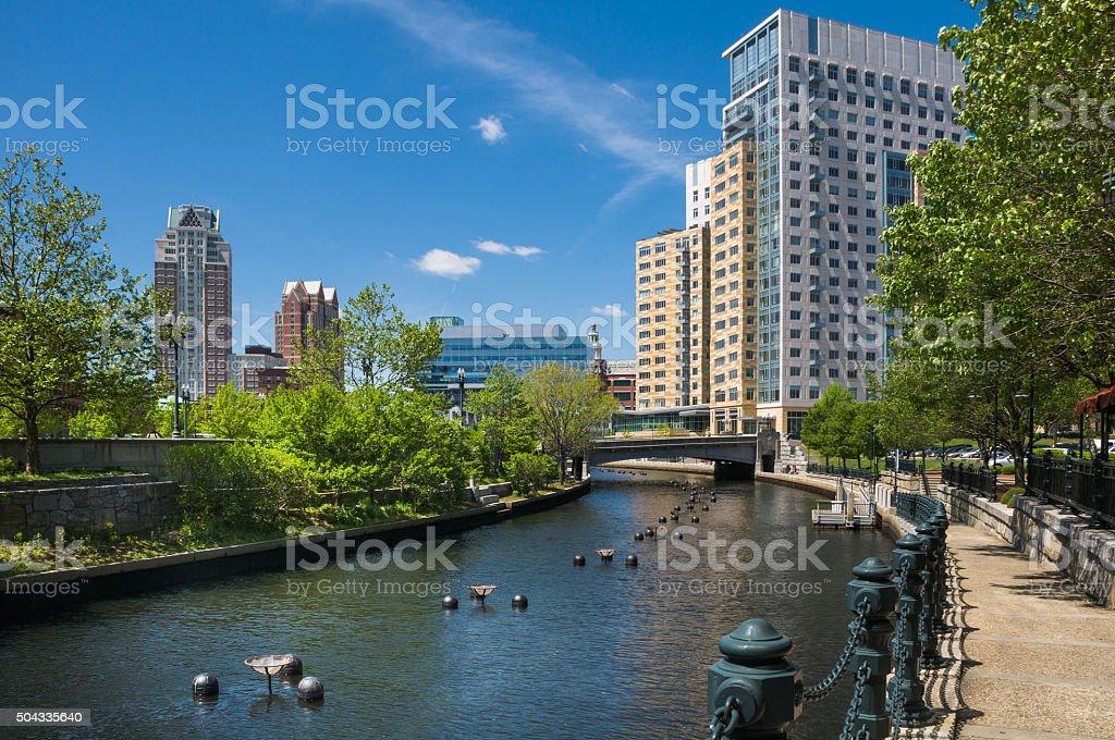 Providence Riverwalk stock photo
