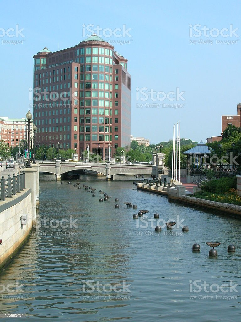 Providence Riverwalk, RI royalty-free stock photo
