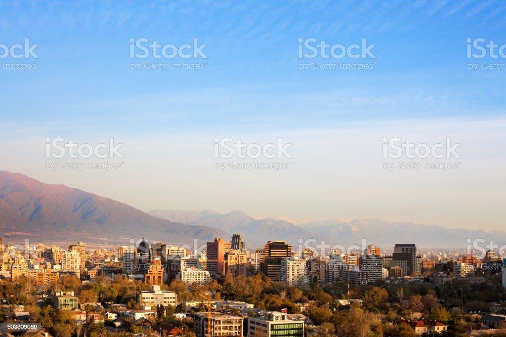 Providencia district in Santiago de Chile stock photo